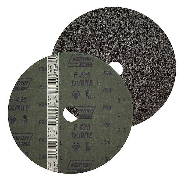 Caixa com 60 Discos de Lixa Fibra Durite F425 Grão 36 180 x 22 mm