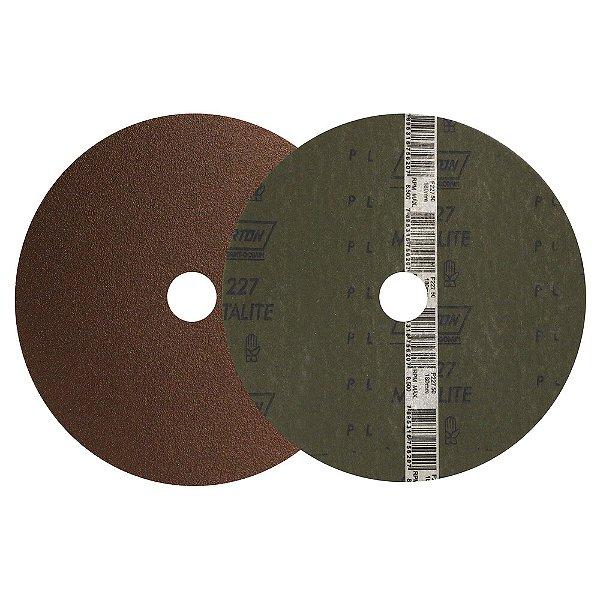 Caixa com 100 Disco de Lixa Fibra Metalite F227 Grão 50 180 x 22 mm