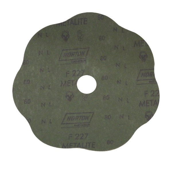 Disco de Lixa Fibra Rosete F227 Grão 80 180 x 22 mm Caixa com 100