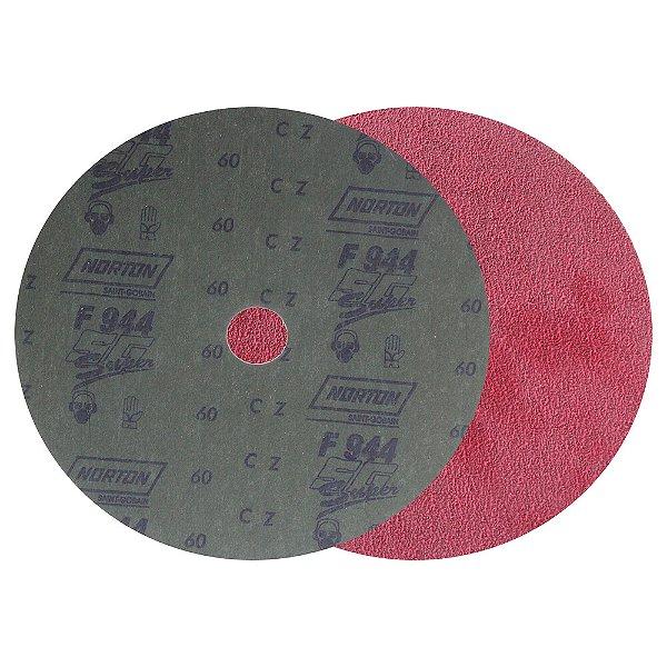 Caixa com 100 Disco de Lixa Fibra Seeded Gel F944 Grão 60 180 x 22 mm