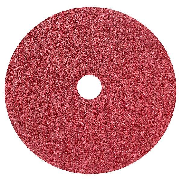 Caixa com 100 Disco de Lixa Fibra Seeded Gel F944 Grão 80 180 x 22 mm