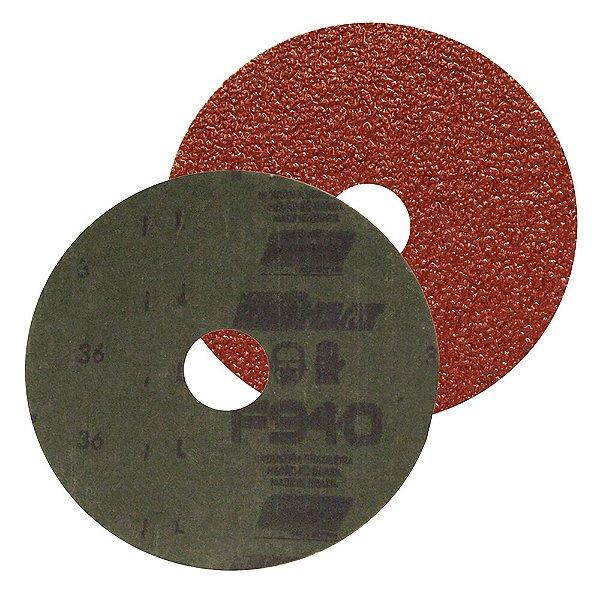 Caixa com 50 Discos de Lixa Fibra F940 Grão 36 115 x 22 mm