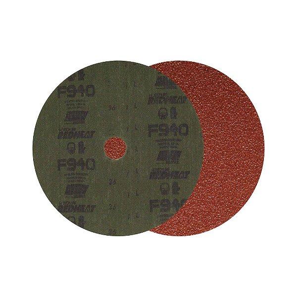 Caixa com 50 Discos de Lixa Fibra F940 Grão 36 180 x 22 mm