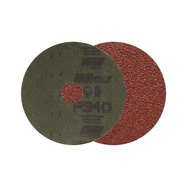 Caixa com 100 Disco de Lixa Fibra F940 Grão 60 115 x 22 mm