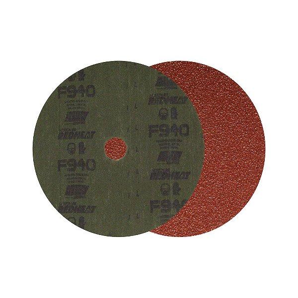 Caixa com 100 Disco de Lixa Fibra F940 Grão 60 180 x 22 mm