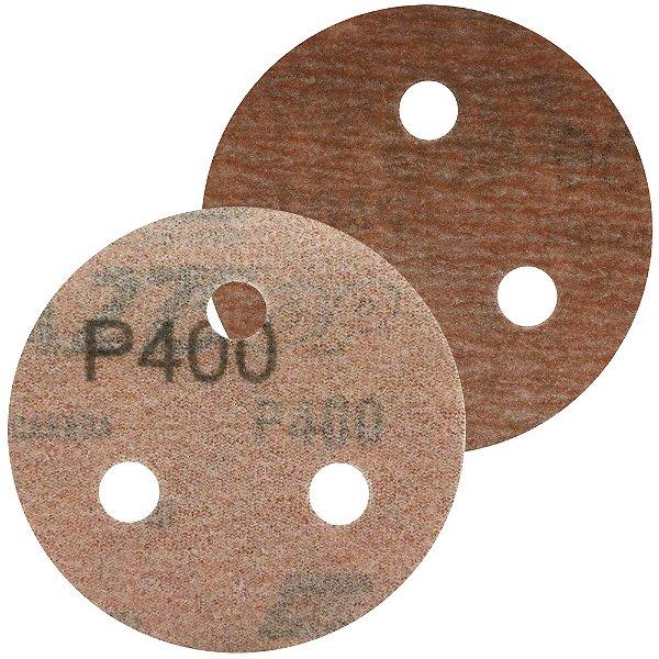 Caixa com 200 Disco de Lixa Pluma A275 com 3 Furos Grão 400 76 x 3 mm