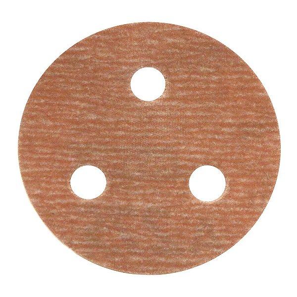 Caixa com 200 Disco de Lixa Pluma A275 com 3 Furos Grão 500 76 x 3 mm