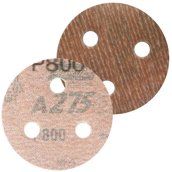 Caixa com 200 Disco de Lixa Pluma A275 com 3 Furos Grão 800 76 x 3 mm