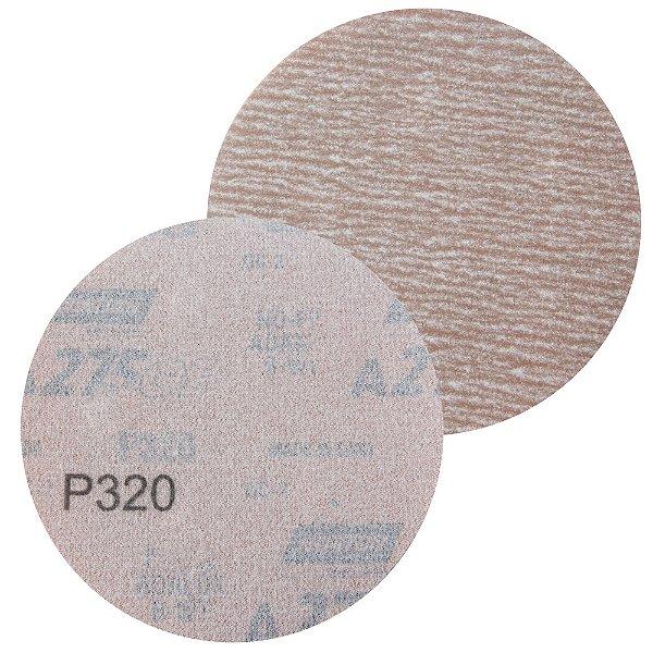 Disco de Lixa Pluma A275 Grão 320 127 mm Caixa com 100