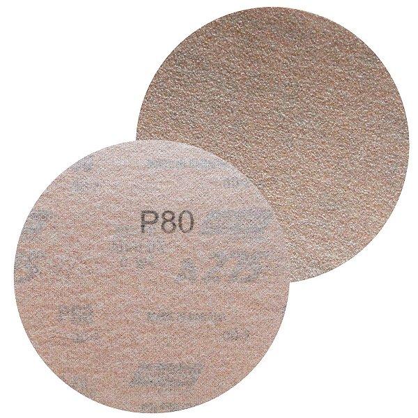 Caixa com 100 Disco de Lixa Pluma A275 Grão 80 127 x 0 x 5 mm