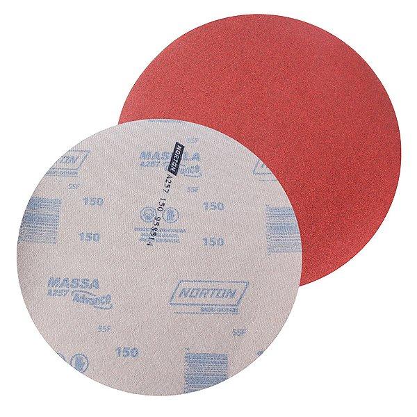 Disco de Lixa Pluma Massa Advance A257 Grão 150 230 mm Caixa com 50
