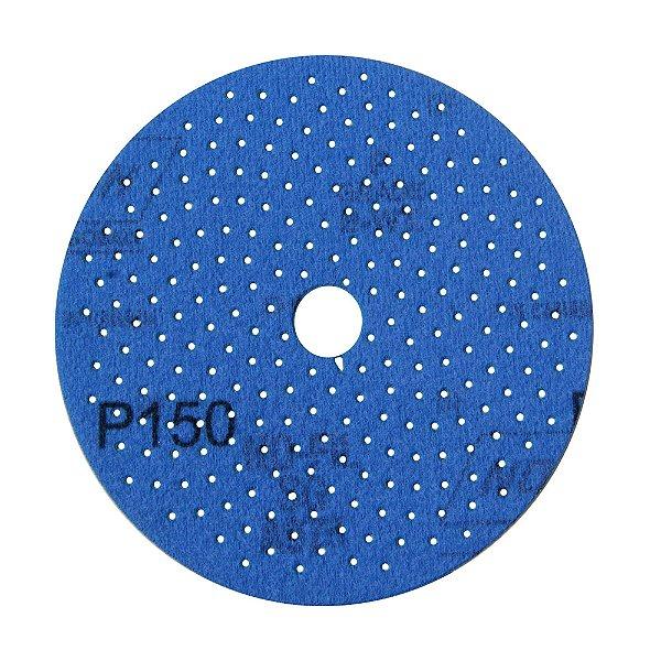 Caixa com 50 Discos de Lixa Pluma Multiair Cyclonic A975 Grão 150 127 x 18 mm