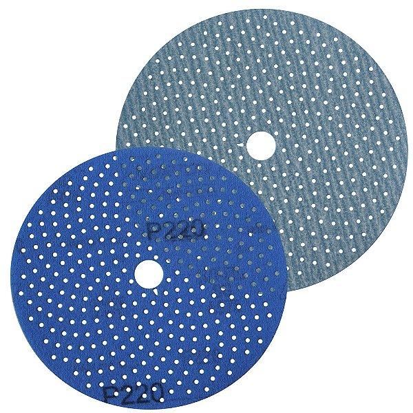Caixa com 50 Discos de Lixa Pluma Multiair Cyclonic A975 Grão 220 152 x 18 mm