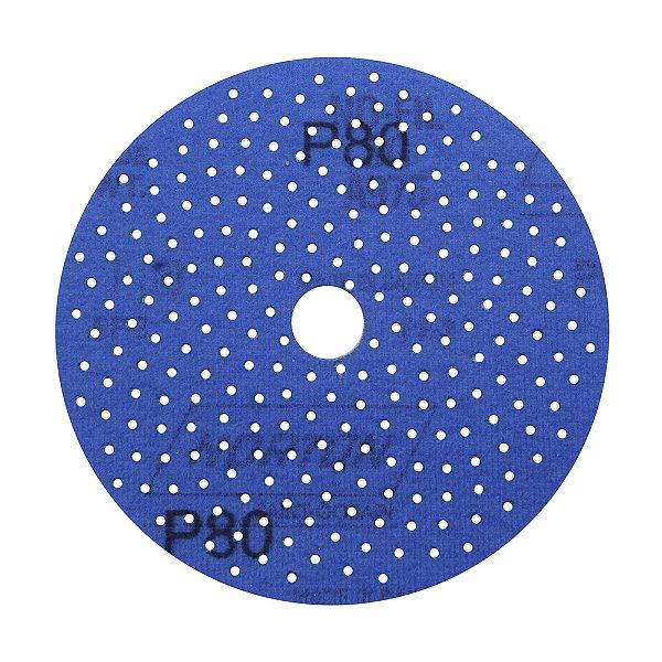 Caixa com 5 Disco de Lixa Pluma Multiair Cyclonic A975 Grão 80 127 x 18 mm