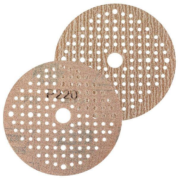 Caixa com 100 Disco de Lixa Pluma Multiair NorGrip A275 Grão 220 - 125 x 18 mm