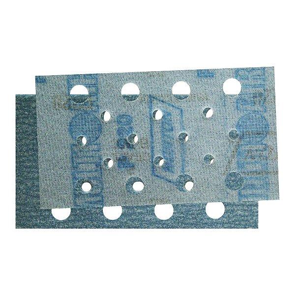 Caixa com 50 Folha de Lixa Taco Pluma Multiair Plus NorGrip A975 Grão 220 70 x 125 mm