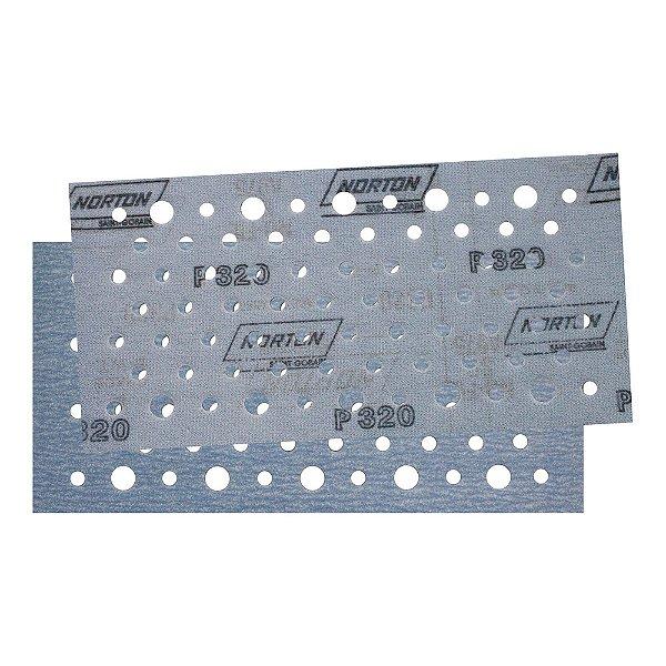Caixa com 50 Discos de Lixa Pluma Multiair Plus NorGrip A975 Grão 320 115 x 230 mm
