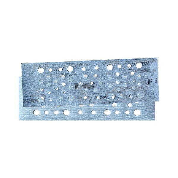 Caixa com 50 Discos de Lixa Pluma Multiair Plus NorGrip A975 Grão 400 115 x 230 mm