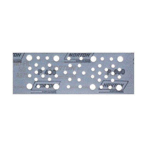Disco de Lixa Pluma Multiair Plus NorGrip A975 Grão 400 70 x 198 mm Caixa com 50