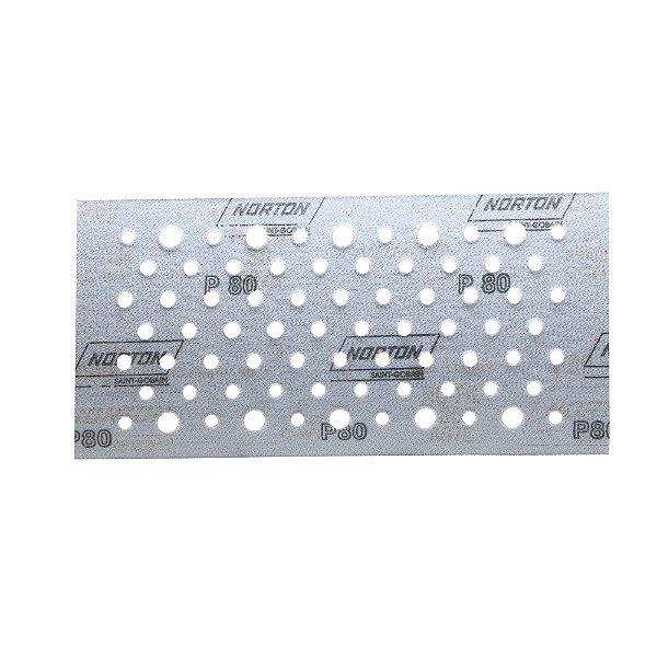 Caixa com 50 Discos de Lixa Pluma Multiair Plus NorGrip A975 Grão 80 115 x 230 mm