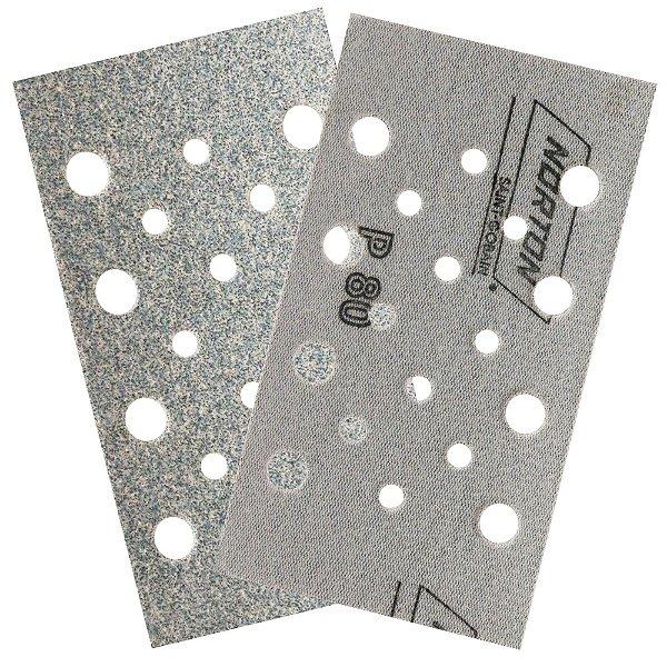 Caixa com 50 Discos de Lixa Pluma Multiair Plus NorGrip A975 Grão 80 70 x 125 mm