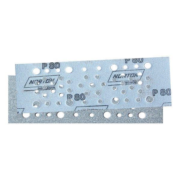 Caixa com 50 Discos de Lixa Pluma Multiair Plus NorGrip A975 Grão 80 70 x 198 mm