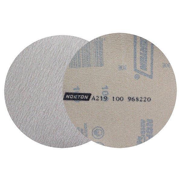 Caixa com 100 Disco de Lixa Pluma Speed-Grip A219 Grão 100 127 mm