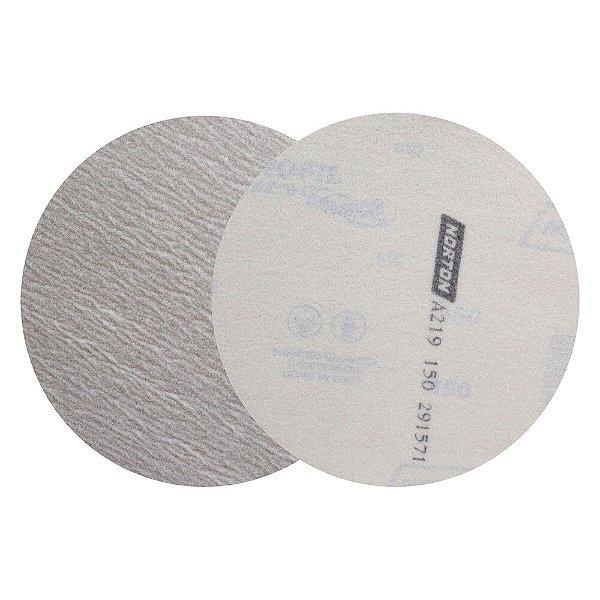 Caixa com 50 Discos de Lixa Pluma Speed-Grip A219 Grão 150 152 mm
