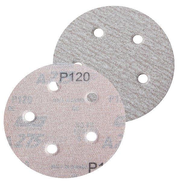 Caixa com 100 Disco de Lixa Pluma Speed-Grip A275 com 5 Furos Grão 120 127 x 0 x 5 mm