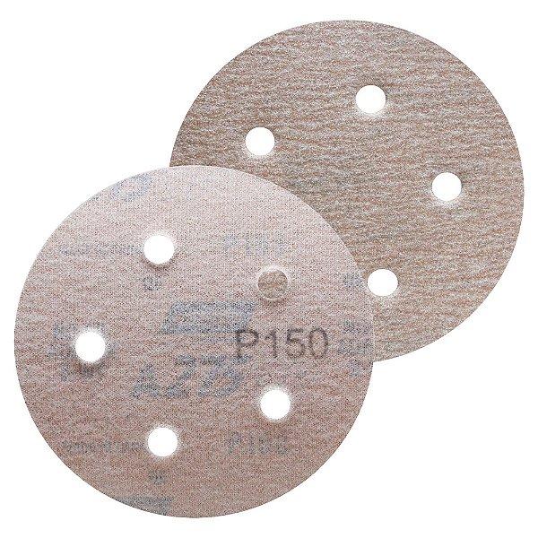 Caixa com 100 Disco de Lixa Pluma Speed-Grip A275 com 5 Furos Grão 150 127 x 0 x 5 mm