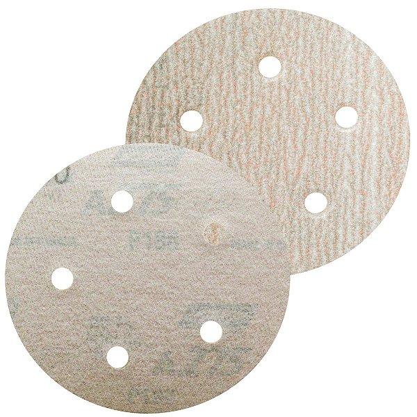 Caixa com 100 Disco de Lixa Pluma Speed-Grip A275 com 5 Furos Grão 180 127 x 0 x 5 mm