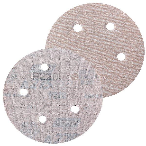 Caixa com 100 Disco de Lixa Pluma Speed-Grip A275 com 5 Furos Grão 220 127 x 0 x 5 mm