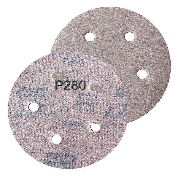 Caixa com 100 Disco de Lixa Pluma Speed-Grip A275 com 5 Furos Grão 280 127 x 0 x 5 mm