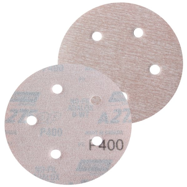 Caixa com 100 Disco de Lixa Pluma Speed-Grip A275 com 5 Furos Grão 400 127 x 0 x 5 mm