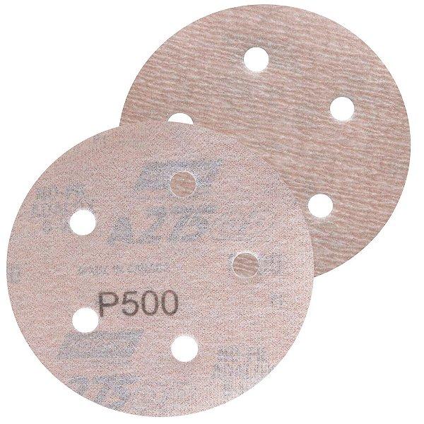 Caixa com 100 Disco de Lixa Pluma Speed-Grip A275 com 5 Furos Grão 500 127 x 0 x 5 mm