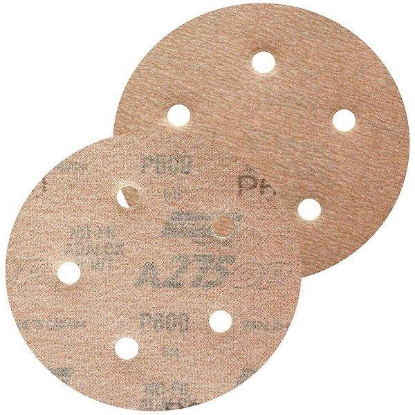 Caixa com 100 Disco de Lixa Pluma Speed-Grip A275 com 5 Furos Grão 600 127 x 0 x 5 mm