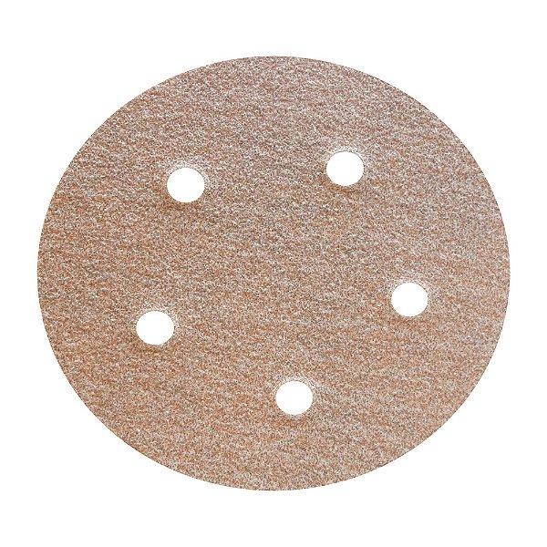 Disco de Lixa Pluma Speed-Grip A275 com 5 Furos Grão 80 127 x 0 x 5 mm Caixa com 100