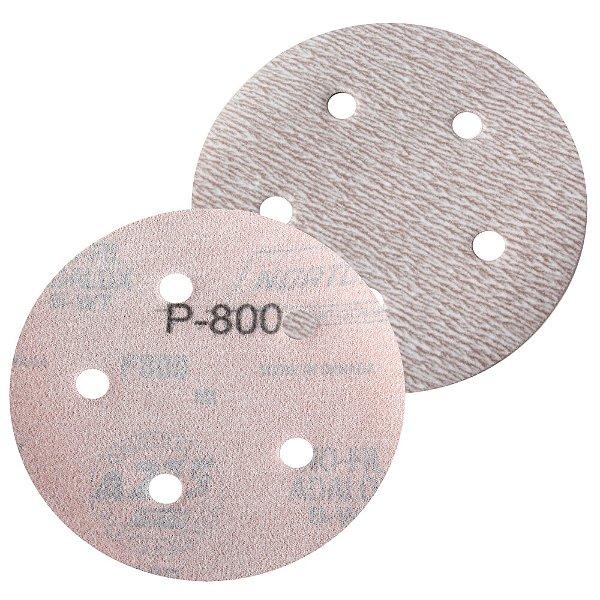Caixa com 100 Disco de Lixa Pluma Speed-Grip A275 com 5 Furos Grão 800 127 x 0 x 5 mm