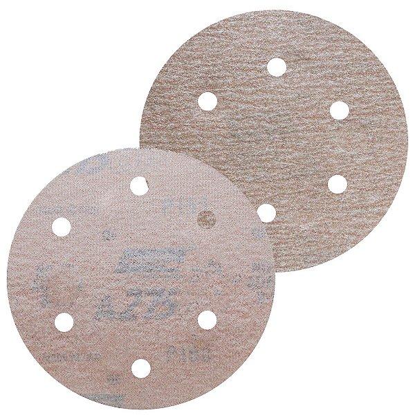 Caixa com 100 Disco de Lixa Pluma Speed-Grip A275 com 6 Furos Grão 120 152 x 0 x 6 mm