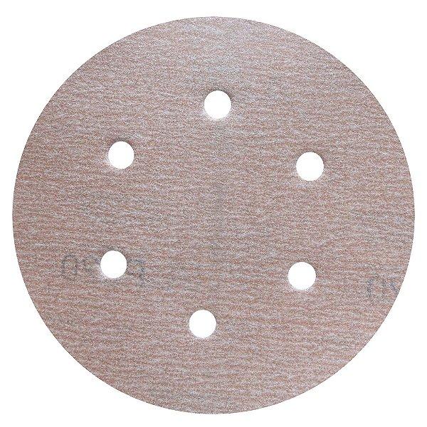 Disco de Lixa Pluma Speed-Grip A275 com 6 Furos Grão 220 152 x 0 x 6 mm Caixa com 100