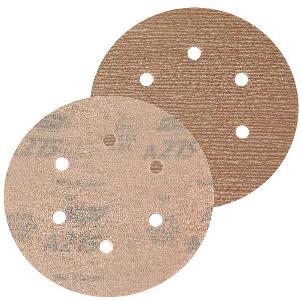 Caixa com 100 Disco de Lixa Pluma Speed-Grip A275 com 6 Furos Grão 400 152 x 0 x 6 mm