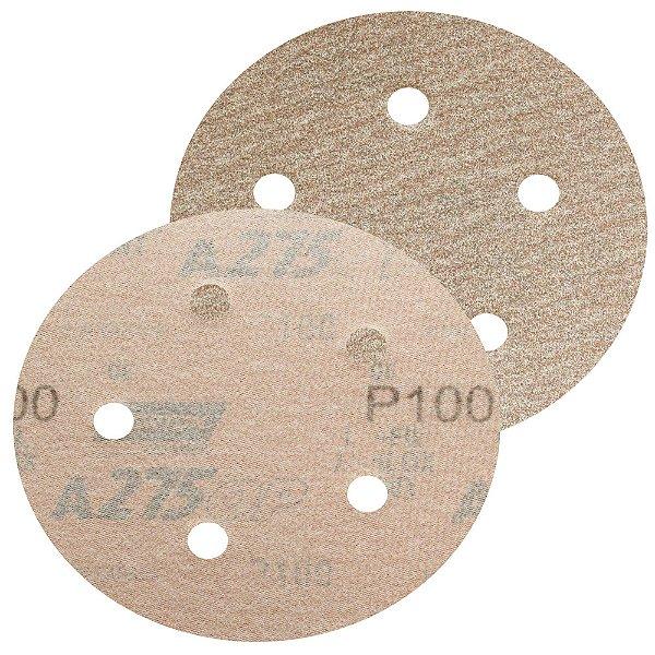 Disco de Lixa Pluma Speed-Grip A275 Grão 100 127 x 0 x 5 mm Caixa com 100
