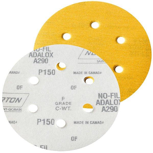 Caixa com 100 Disco de Lixa Pluma Speed-Grip A290 com 6 Furos Grão 150 152 x 0 x 6 mm