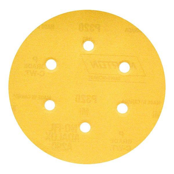 Disco de Lixa Pluma Speed-Grip A290 com 6 Furos Grão 320 152 x 0 x 6 mm Caixa com 100