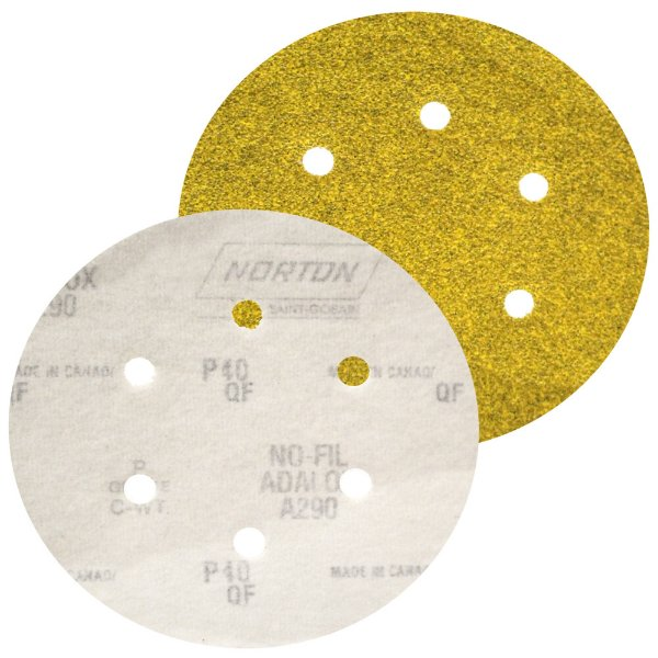 Caixa com 100 Disco de Lixa Pluma Speed-Grip A290 com 6 Furos Grão 40 152 x 0 x 6 mm