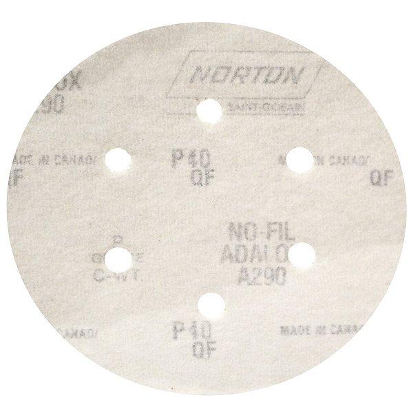 Disco de Lixa Pluma Speed-Grip A290 com 6 Furos Grão 40 152 x 0 x 6 mm Caixa com 100