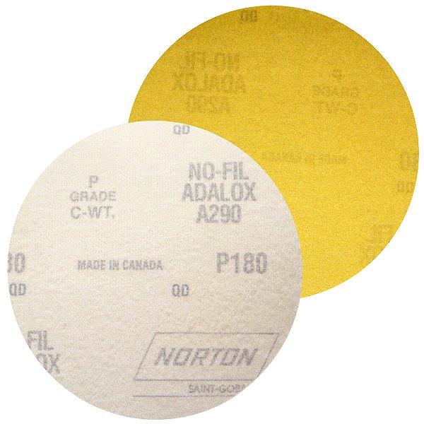 Caixa com 100 Disco de Lixa Pluma Speed-Grip A290 Grão 180 127 mm
