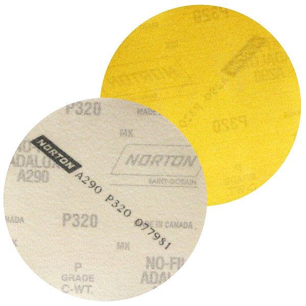 Caixa com 100 Disco de Lixa Pluma Speed-Grip A290 Grão 320 127 mm