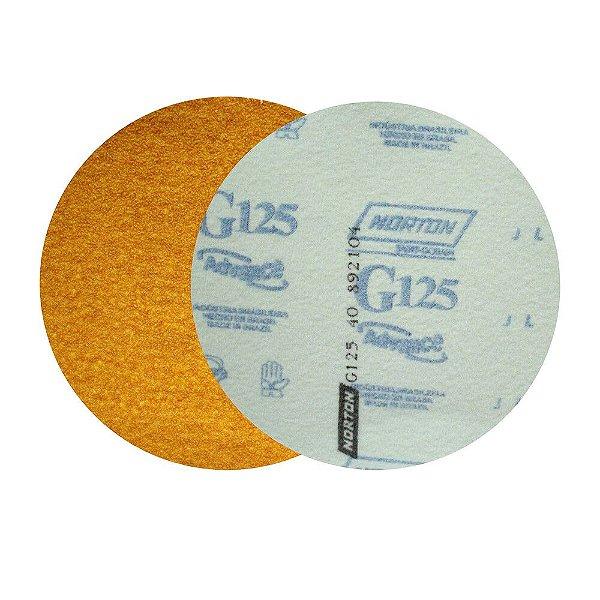 Caixa com 50 Discos de Lixa Pluma Speed-Grip Adalox Papel G125 Grão 40 152 mm