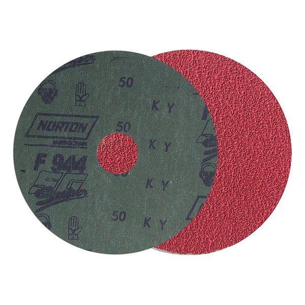 Caixa com 100 Disco de Lixa Seeded Gel F944 Grão 50 115 x 22 mm